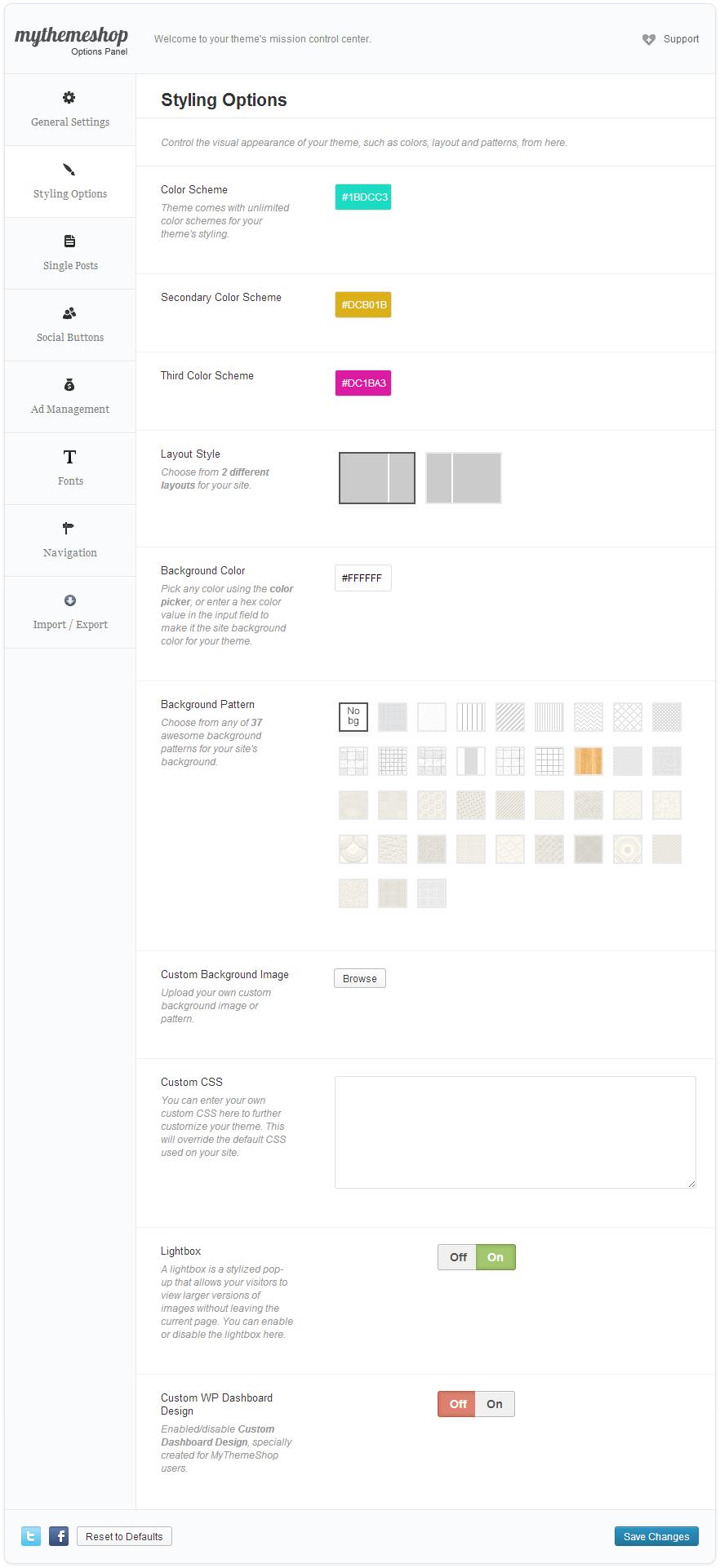 Digitalis Customization Options